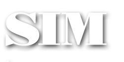 SIM logo white dropshadow